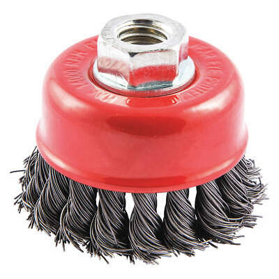 """GRAINGER APPROVED Cup Brush,Wire 0.020"""" dia.,Carbon Steel, 66252838694"""