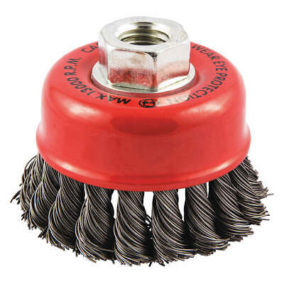 """GRAINGER APPROVED Cup Brush,Wire 0.020"""" dia.,Carbon Steel, 66252838695"""