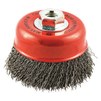 """GRAINGER APPROVED Cup Brush,Wire 0.020"""" dia.,Carbon Steel, 66252838518"""