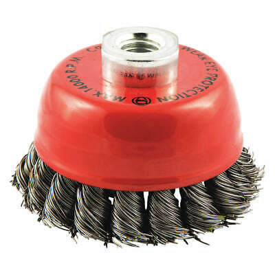 """GRAINGER APPROVED Cup Brush,Wire 0.020"""" dia.,Carbon Steel, 66252838691"""
