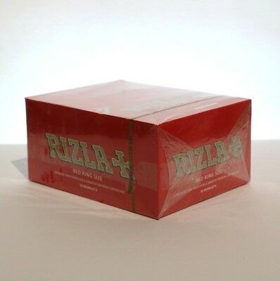 Rizla+ Red King Size Smoking Rolling Paper - 1 Box (50 Booklets)