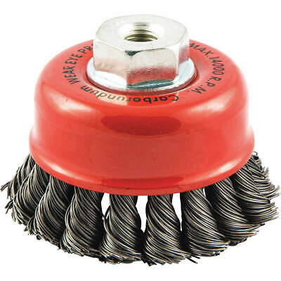 """GRAINGER APPROVED Cup Brush,Wire 0.020"""" dia.,Carbon Steel, 66252838690"""