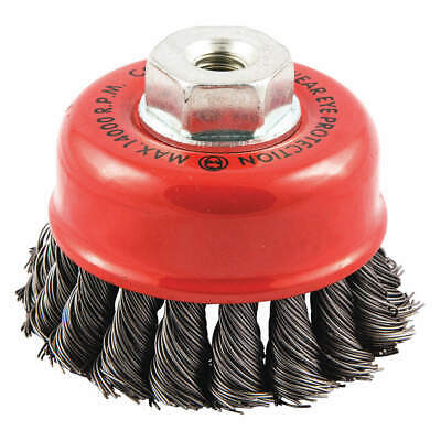"""GRAINGER APPROVED Cup Brush,Wire 0.020"""" dia.,Carbon Steel, 66252838689"""