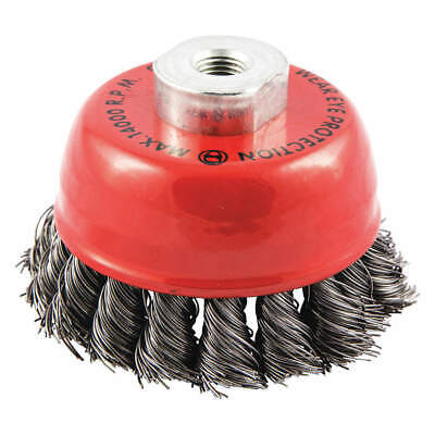 """GRAINGER APPROVED Cup Brush,Wire 0.020"""" dia.,Carbon Steel, 66252838692"""