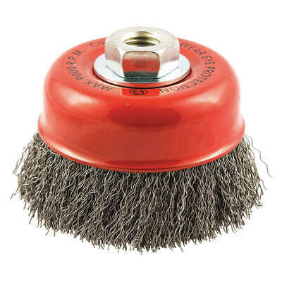 """GRAINGER APPROVED Cup Brush,Wire 0.014"""" dia.,Carbon Steel, 66252838519"""