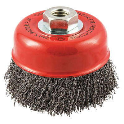 """GRAINGER APPROVED Cup Brush,Wire 0.014"""" dia.,Carbon Steel, 66252838778"""