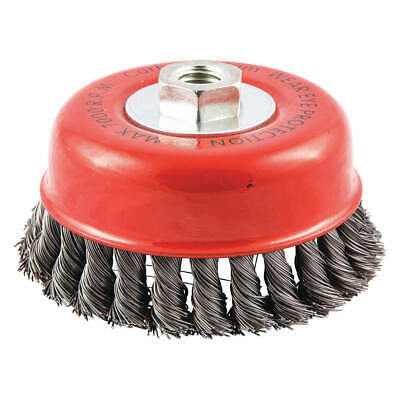 """GRAINGER APPROVED Cup Brush,Wire 0.020"""" dia.,Carbon Steel, 66252838597"""