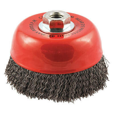 """GRAINGER APPROVED Cup Brush,Wire 0.020"""" dia.,Carbon Steel, 66252838596"""