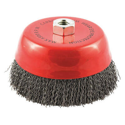 """GRAINGER APPROVED Cup Brush,Wire 0.020"""" dia.,Carbon Steel, 66252838517"""