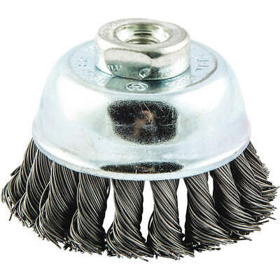 """GRAINGER APPROVED Cup Brush,Wire 0.020"""" dia.,Carbon Steel, 66252838781"""