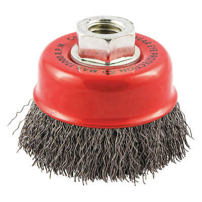"""GRAINGER APPROVED Cup Brush,Wire 0.014"""" dia.,Carbon Steel, 66252838686"""