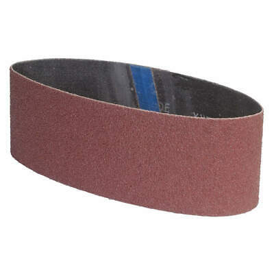 "GRAINGER APPROVED Sanding Belt,4"" W,24"" L,Coated,120 Grit, 05539554826, Brown"
