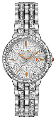Citizen two-tone eco-drive crystal watch for women