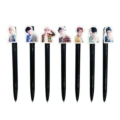 KPOP BTS Bangtan Boys IDOL Black Ballpoint Pen Office School Stationery Gifts