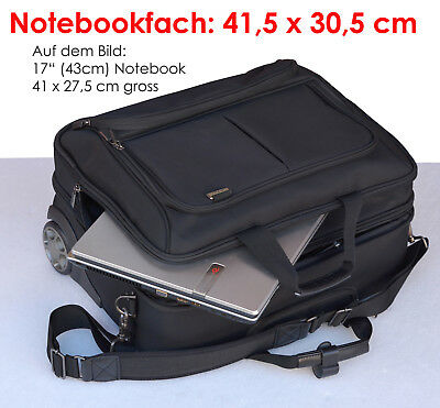 """Very High Quality Laptop Bag Trolley Dicota for Laptops up to 17 """" 43cm 41x31cm"""