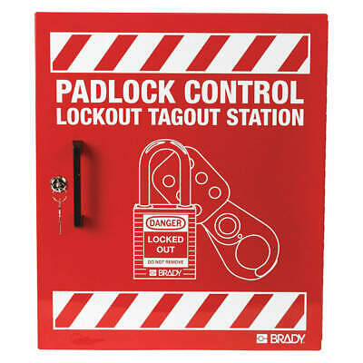 "CONDOR Steel Lockout Station,Red,15-1/2"" H, 437R75, Red"