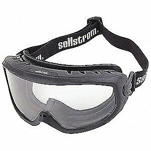 SELLSTROM Fire Protective Goggles,Non-Vented,Clear, S80225