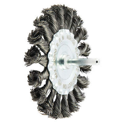 NORTON Wire Wheel Brush,Knotted,Carbon Steel, 66252839032