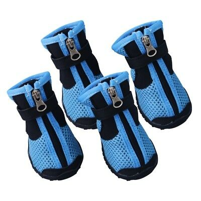 Dog Shoes Small Large Anti-slip Mesh Boots Booties for Snow Rain Reflective USA