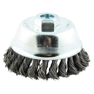NORTON Cup Brush,Knotted,4 dia.,Arbor Hole, 66252839090