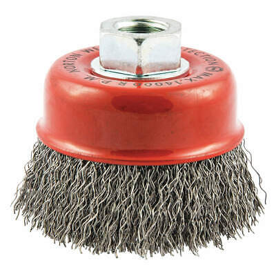 NORTON Cup Brush,Crimped,3 dia.,Arbor Hole, 66252839034