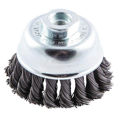NORTON Cup Brush,Crimped,2-3/4 dia.,Arbor Hole, 66252839080