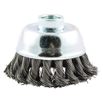 NORTON Cup Brush,Knotted,2-3/4 dia.,Arbor Hole, 66252839109