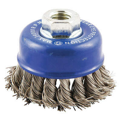 NORTON Cup Brush,Knotted,2-3/4 dia.,Arbor Hole, 66252838812