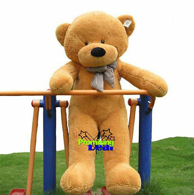 55'' Giant Big Brown Teddy Bear Soft Stuffed Animal Plush Doll Toy Birthday Gift