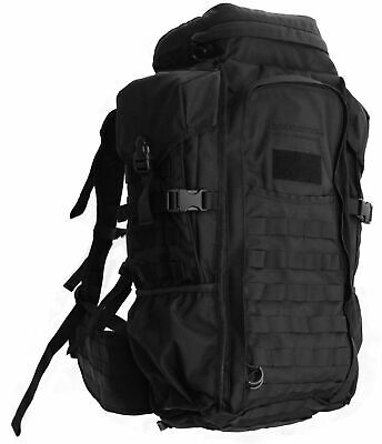 Eberlestock HalfTrack Military Pack w/Tunnel Pockets & D-Rings, Black F3MB