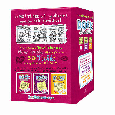 New Dork Diaries Book Set Collection 1-3 books