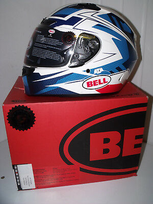 90b06e23 Bell Motorcycle crash helmet Qualifier DLX blue white Size Medium 57 58cm  NOS