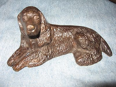 "Irish Setter - Sitting  Cold-Cast Bronze Figurine  5.75"" Long"