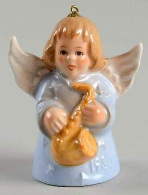 Goebel ANGEL BELL ORNAMENT Blue Angel Saxaphone 1980