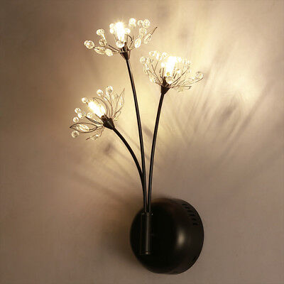 LED Wall Lamp Crystal  Corridor Wall Light Dandelion Lighting Room Wall Sconce