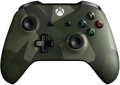 Microsoft Xbox One Wireless Controller, Green/Camo Army Forces II - Brand New