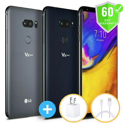 LG V35 ThinQ LM-V350A 64GB Black Grey GSM Unlocked (AT&T) Smartphone New Other