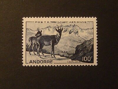 Andorra Francese / French Andorra 1950 - Air Mail Chamois Mnh