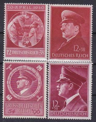 ** 3rd Reich 4 Adolph Hitler's Birthday Issues Finest MNH! **
