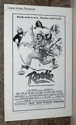 ROADIE original1980 movie pressbook MEAT LOAF/ALICE COOPER/BLONDIE/DEBORAH HARRY
