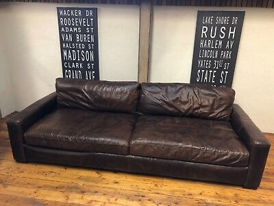 Sensational Restoration Hardware Rh Maxwell Leather Sofa 2 375 00 Evergreenethics Interior Chair Design Evergreenethicsorg