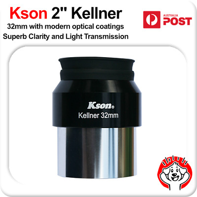 "KSON 2"" (2 Inch) 32mm Fully Multi-Coated Kellner Eyepiece 46 degree FOV"
