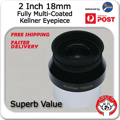 """2"""" (2 Inch) 18mm Fully Multi-Coated Kellner Eyepiece with Quality Twist Case"""