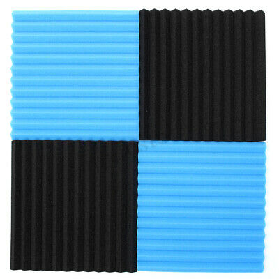 """36 Pack Acoustic Foam Panel Wedge Studio Soundproofing Wall Tiles 12"""" X 12"""" X 1"""""""