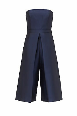 bea7f8b8c798 4.collective Blue Women s Size 8 Strapless Culotte Pleated Jumpsuit  450-   950