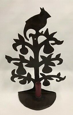 """for Sarah - Shaker Workshops iron sconce ~ partridge pear tree ~ 13""""x8"""""""