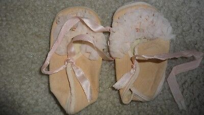 """Vintage Mrs. Days Ideal Baby Shoes Size 1 (3 1/2"""" long)"""