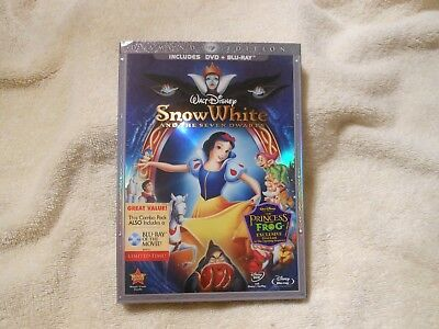 DISNEY Snow White and the Seven Dwarfs (BLU RAY/DVD, 2009)**FACTORY SEALED**