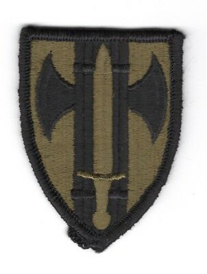 merrowed edge Army Patch subdued 18th Aviation Brigade