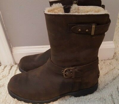 5721e91d285 NEW IN BOX UGG Australia Womens W Brown Grandle Suede Leather Winter ...
